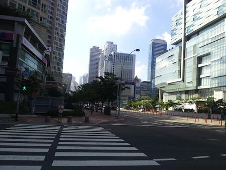 釜山の街並み